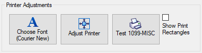 1099 Printer Adjustments