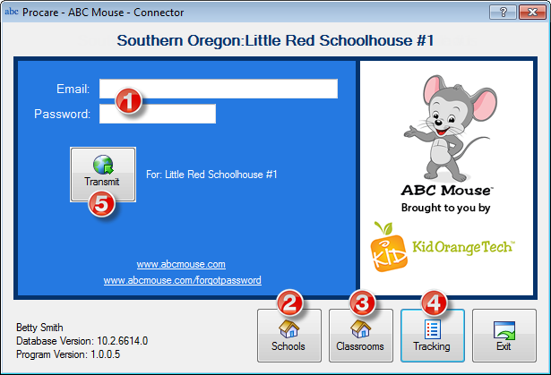 Steps to transmit from Procare to ABCMouse.com