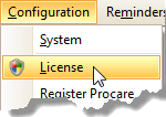 config-license