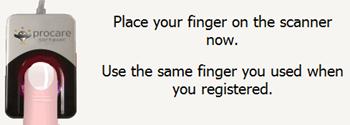 place-finger