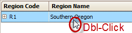 Double-Click the Region