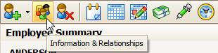 Toolbar: Employee Information & Relationships