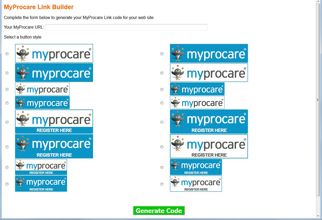 myprocare-link-builder