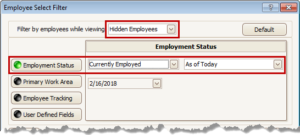 Select Hidden Employees