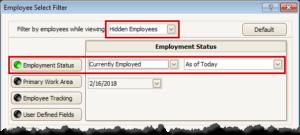 Select Hidden Employees