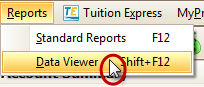 Select Data Viewer from the Reports Menu