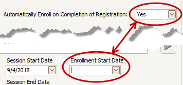 MyProcare: Enrollment Start Date for Session