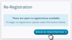 MyProcare: Begin Re-registration