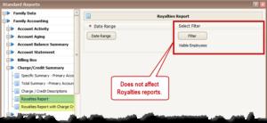 Employee Filter on Royalties Report