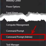 Windows 10 Command Prompt (Admin)