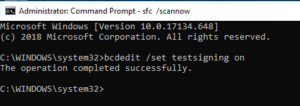 Windows 10 Test Mode Command Prompt